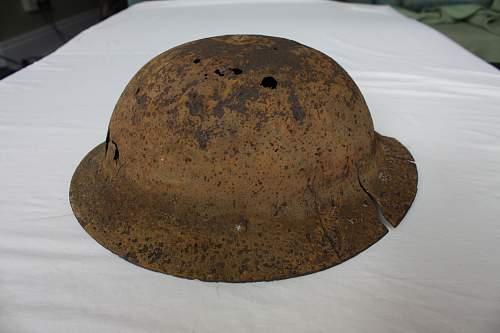 Battle of Crete British helmet
