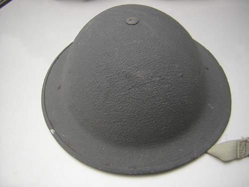 Interesting textured finish on a Mk II helmet
