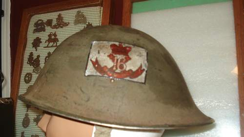 """My """"New"""" Canadian D-Day Mk 3 Helmet with Regts Badge"""