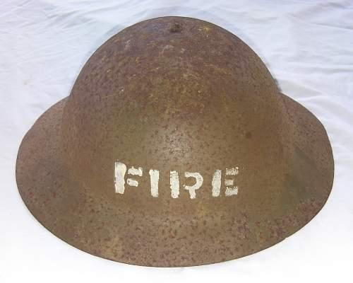 Hardleys Fire Helmet, NZ