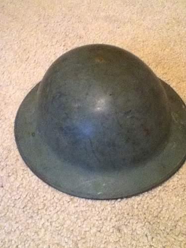 Odd British MKII Helmet?