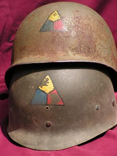 Click image for larger version.  Name:Howard Radford 2nd Armored Divison Helmet 013.jpg Views:568 Size:66.8 KB ID:61063