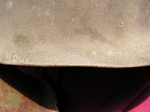 Click image for larger version.  Name:Howard Radford 2nd Armored Divison Helmet 011.jpg Views:129 Size:114.5 KB ID:61064