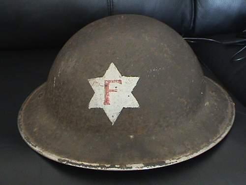 British fire service steel helmets
