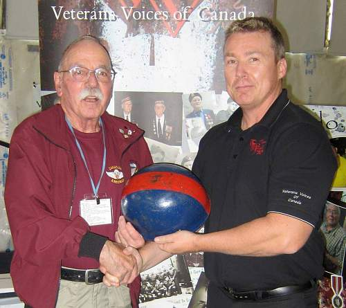 WWII Airborne Helmet - Post-war Used RCOC