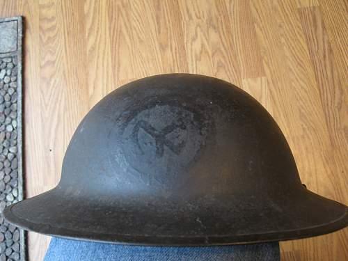 WW1 painted US lid