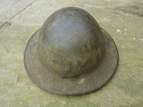 WW1 MK 1 helmet.