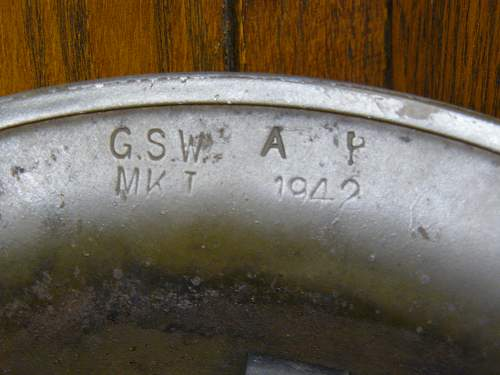 Canadian 42 dated G.S.W. flashed to the Army Fire Service