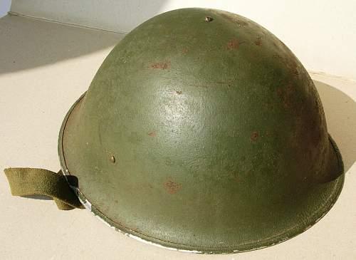 Mk. III helmet ... post war color?