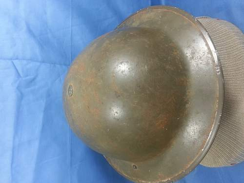 2 other recently purchased british helmets. info on different hessians if poss. please!
