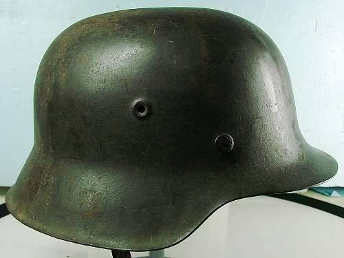 Click image for larger version.  Name:German M42 helmet..jpg Views:6310 Size:113.8 KB ID:68237