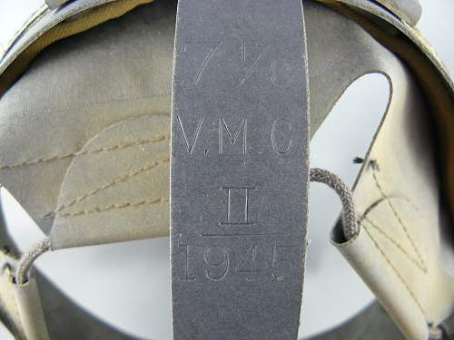 MkII Helmet Liner, size marked but no date or manufacturer. Any ideas?