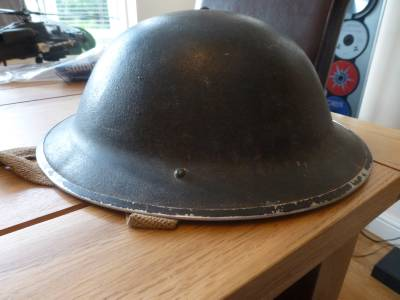 Mid war Army MK2 Helmet and General Service Respirator 1V.