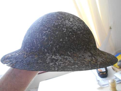 WW2 Mk1* converted from WW1 helmet