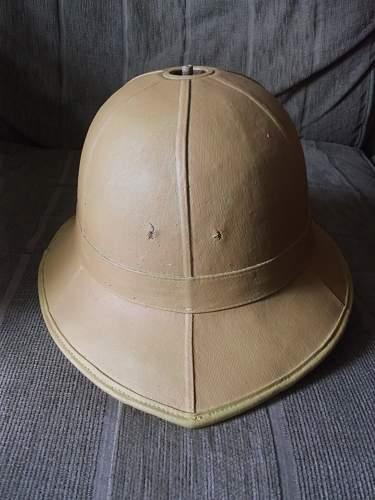 1930's pith helmet