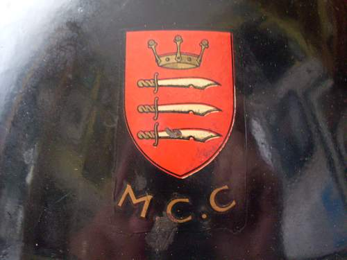 MKII Home Front M.C.C (Lords cricket ground) Helmet.