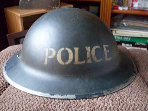 POLICE MKII 1939 dated helmet.