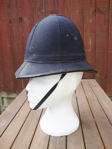 rexine in pith/police helmets