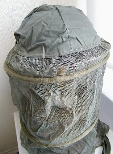 MKII helmet mosquite net Indian made version WWII