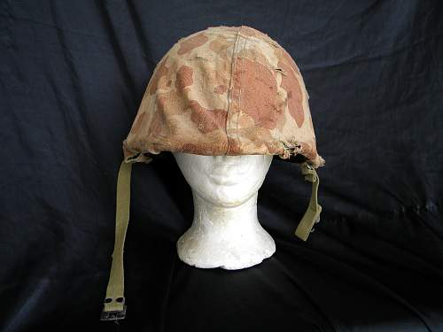 WW2 HBT USMC HELMET AND TRousers