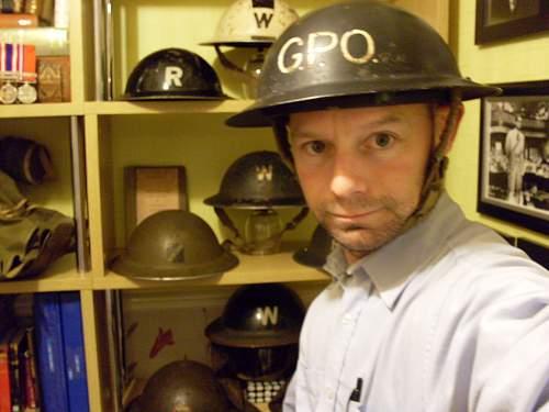 "JERRY'S ""tip off""  MKII G.P.O Helmet."