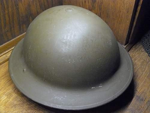 A trio of Canadian Mk II helmets