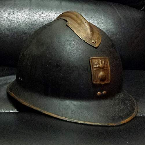 WWII French Defence Passive Army Helmet