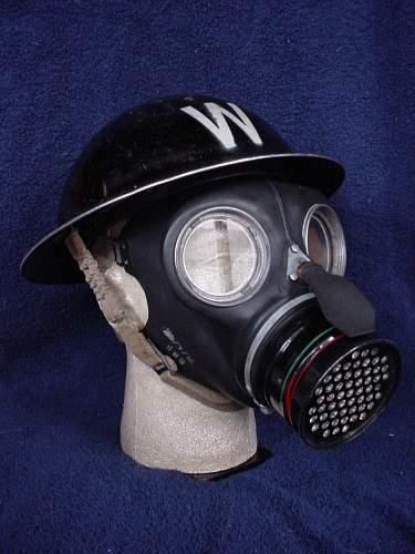 """British """"ARP"""" Wardens steel helmet"""