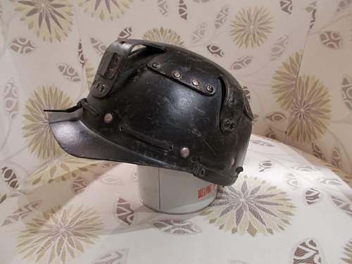 Anyone have an idea what this british fibre helmet is?   Civil Defence?  Miner?