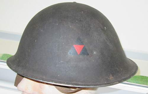 3rd INF Turtle Helmet (1945 dated)
