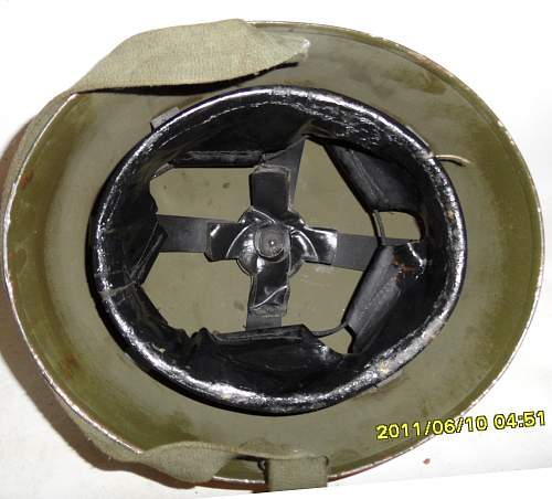 Click image for larger version.  Name:CDA Helmet Steel RAC MkII postwar int.jpg Views:440 Size:203.5 KB ID:801915