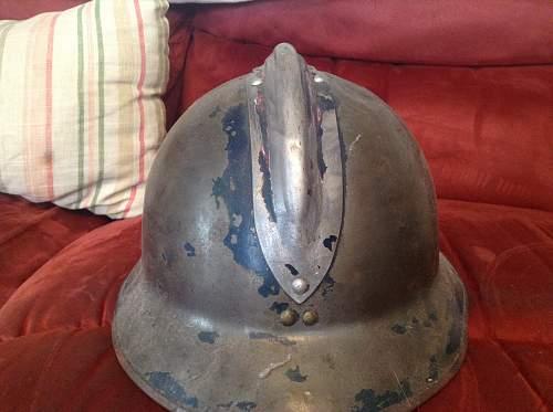 Three French helmets. M-26 Adrians, WW2? Dating?