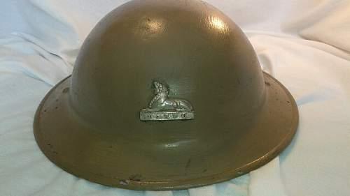 British Home Guard  helmet ?