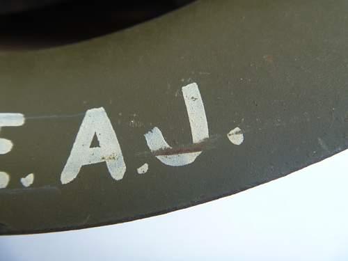 Australian No. 1 Mk. II Helmet named to RAAF Cpl from Perth WA