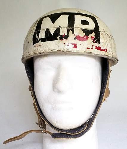 Click image for larger version.  Name:CDA Spalding DR helmet postwar MP front.jpg Views:100 Size:207.9 KB ID:831211