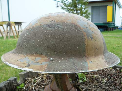 Camouflage, & re-painted helmets.