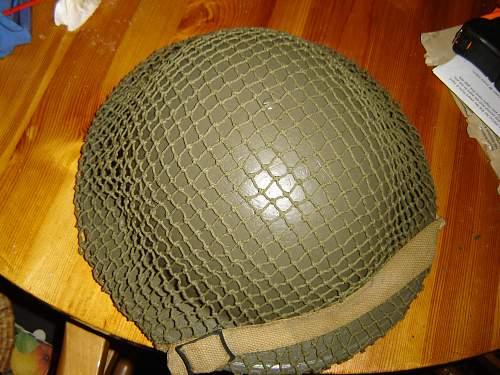 British 1939 helmet with camo net