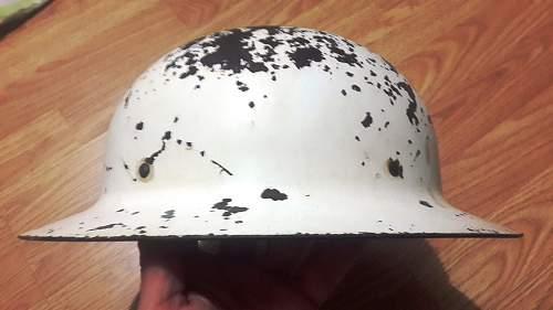 US WW2 Air Raid Warden /  Civil Defense Helmet