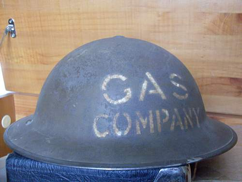 MKII GAS COMPANY helmet.