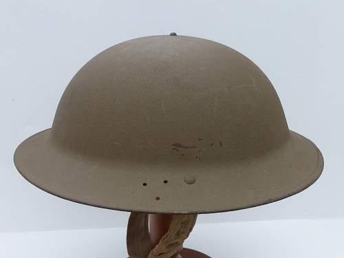 British MkII Helmet with net