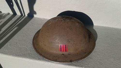 Ww2 royal canadian engineers helmet