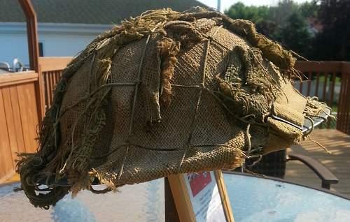 Canadian MkII helmet with scrim. Authentic scrim?