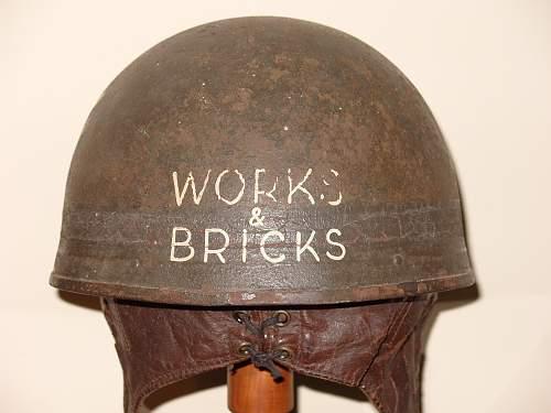 Interesting ww2 despatch riders helmet