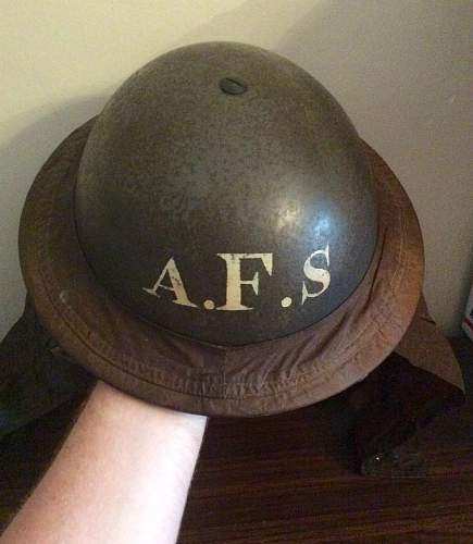 AFS MkII helmet with neck guard