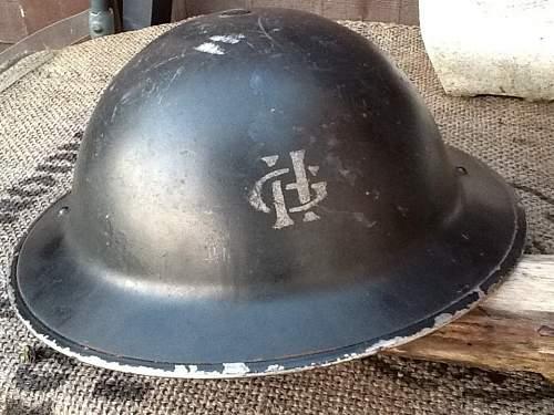 Unusual home guard logo on helmet