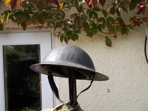 Interesting WW2 British helmet