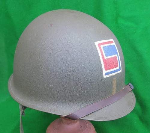 US M1 helmet with 69th Infantry Divison officer markings