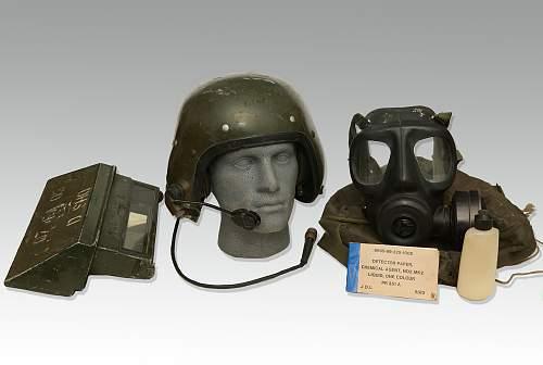 British Armoured Vehicle Crewmans  helmet group