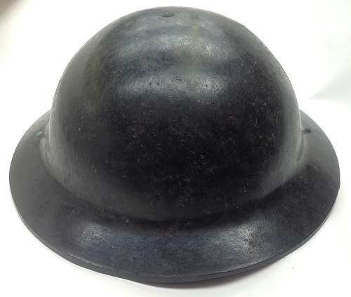 British Bakelite Home Front helmet