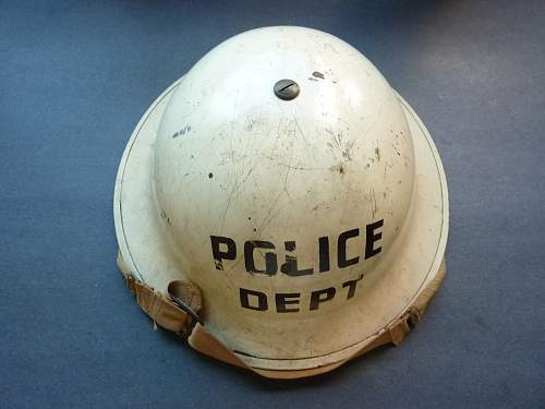Home front marked helmets.